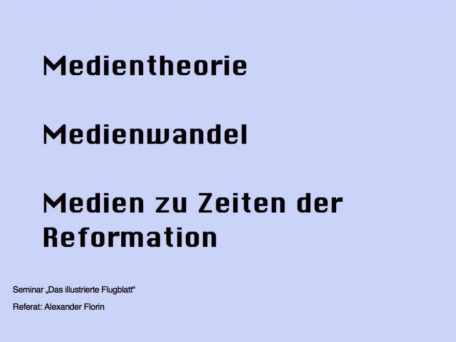 Referat zu Medientheorie