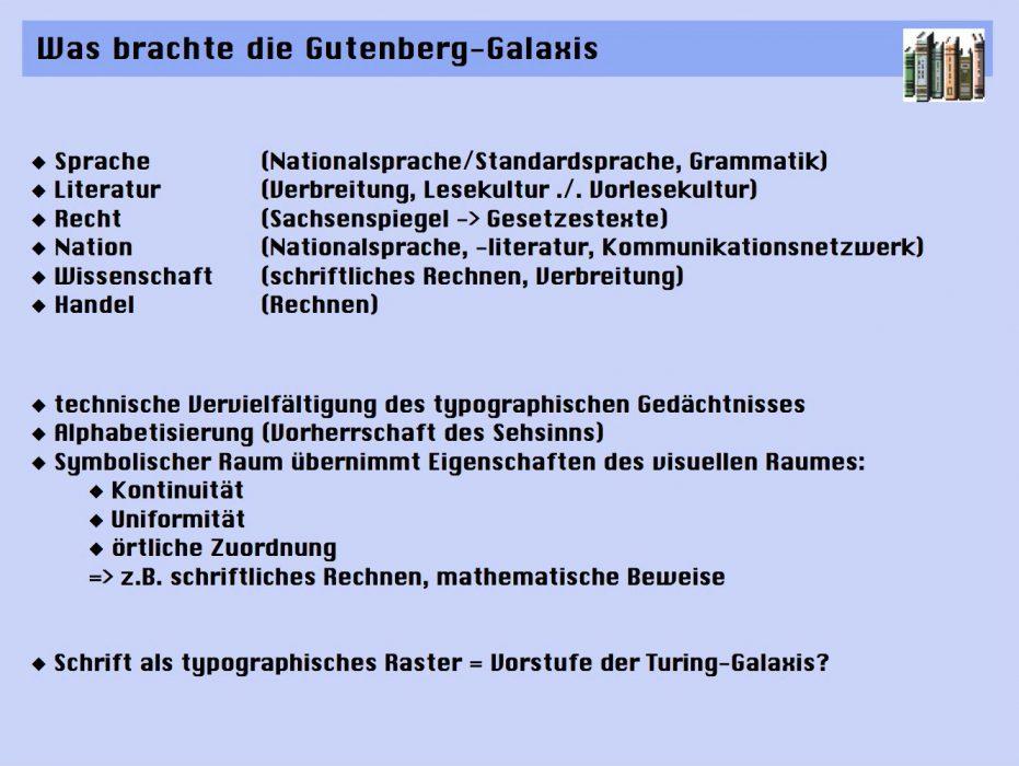 Was brachte die Gutenberg-Galaxis?