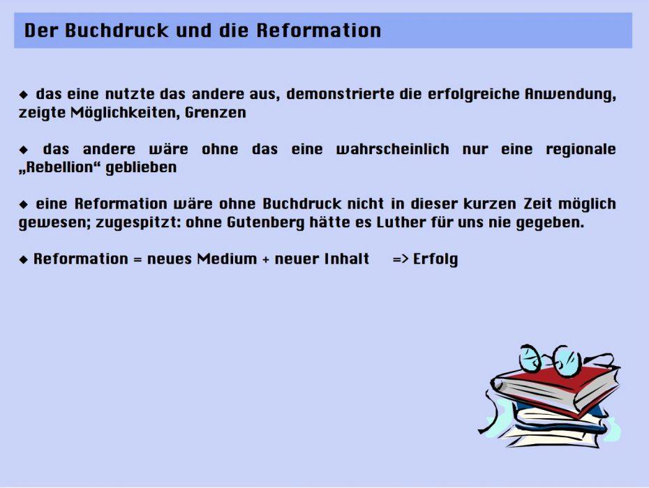 Buchdruck und Reformation