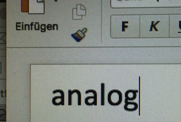 Analog und Digital sind zwei verschiedene Welten.