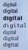 Digitale Schrift mit Anti-Aliasing