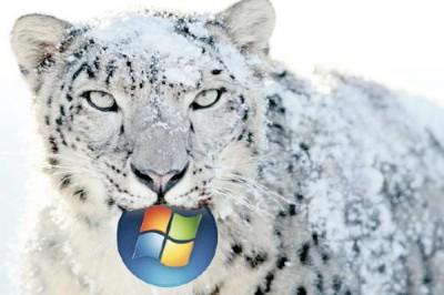 Windows 7 im Vergleich mit Mac OS X Snow Leopard