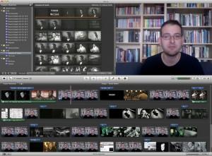 Erstellung des Films über Orson Welles mit iMovie