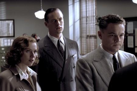 Hoovers Sekretärin Helen Gandy (Naomi Watts), Clyde Tolson (Armie Hammer) und J. Edgar Hoover (Leonardi di Caprio)
