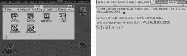 Auf dem Commodore 64 war Geos eine verbreitete grafische Oberfläche. Die Bildschirmaufteilung war aber fest und simulierte nur Fenster, die jedoch nicht verschoben werden konnte.