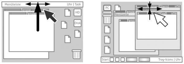 Für das Mac-Menü muss der Mauszeiger nicht so feinmotorisch platziert werden wie für Windows-Menüs.
