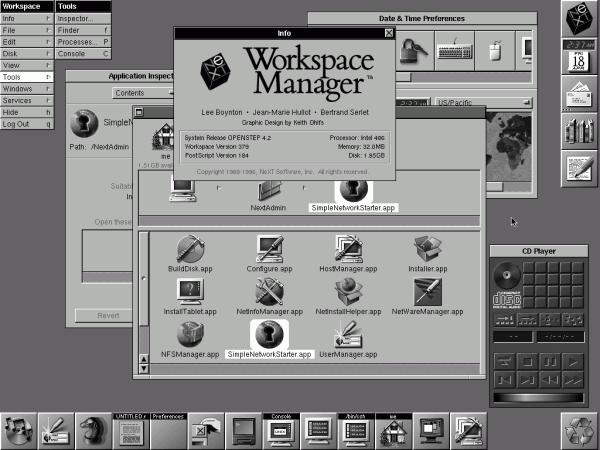 Die objektorientierte Anwendungsschnittstelle OpenStep brachte 1993 einen Vorgeschmack auf die Zukunft.