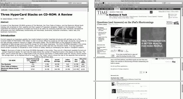 Damit nicht so viel gescrollt werden muss, sind lange Beiträge mitunter auf mehrere Einzelseiten verteilt – mit Klick gehts weiter und dann wird wieder gescrollt.