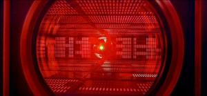 """Screenshot """"2001 – Odyssee im Weltraum"""": Bowman dringt in HALs Innerstes vor"""