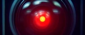 """Screenshot """"2001 – Odyssee im Weltraum"""": HALs Auge sieht alles"""