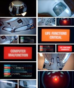 """Screenshot """"2001 – Odyssee im Weltraum"""": HAL tötet mit seinen Blicken"""