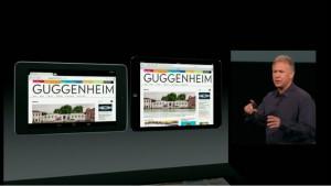 Phil Schiller vergleicht die Nutzfläche auf einem 7-Zoll-Android-Tablet mit dem iPad mini