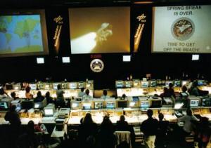 "Kontrollzentrum im Cape Canaveral bei der ""Columbia""-Mission 1993"