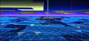 "Screenshot ""Tron"": Digitale Landschaften"