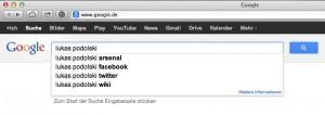 Nein, Lukas Podolski ist nicht schwul – Google muss es ja wissen.