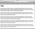 Schriftdarstellung im Browser: 14pt