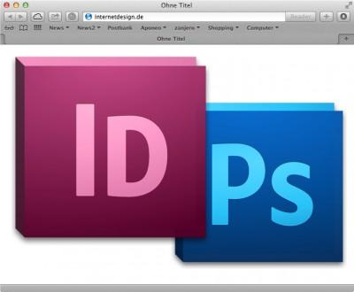 Webdesign mit InDesign ist effektiver als mit PhotoShop