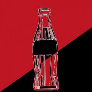 Die Silhouette der Coca-Cola-Flasche ist ein eigenes Markenzeichen.