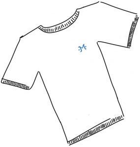Der Kauf eines Marken-Shirts.