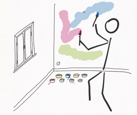 Seinen eigenen Raum kann jeder nach Gutdünken selbst gestalten.