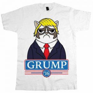 T-Shirt: Grumpy Cat als Trump
