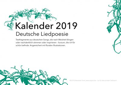 Cover Kalender 2019