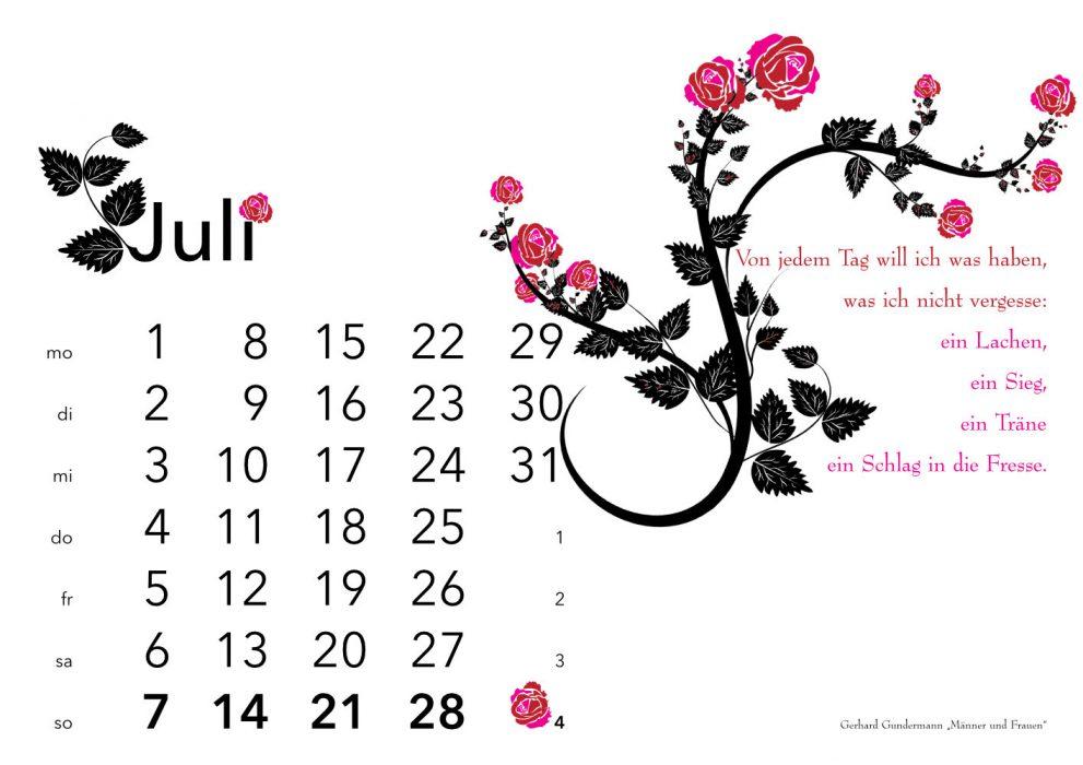 Kalender 2019 Juli: Gundermann
