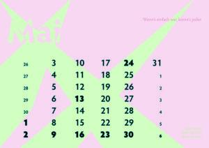 Kalenderblatt Mai 2021