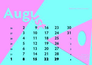Kalenderblatt August 2021